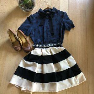 Black & white stripped skirt